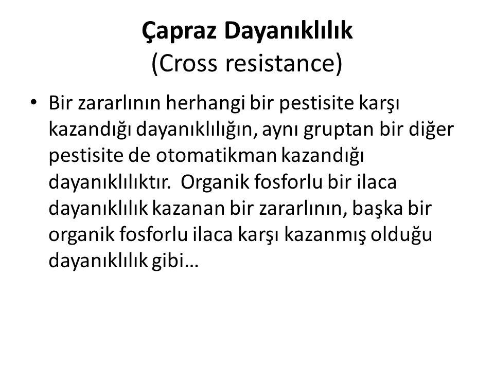 Çapraz Dayanıklılık (Cross resistance)