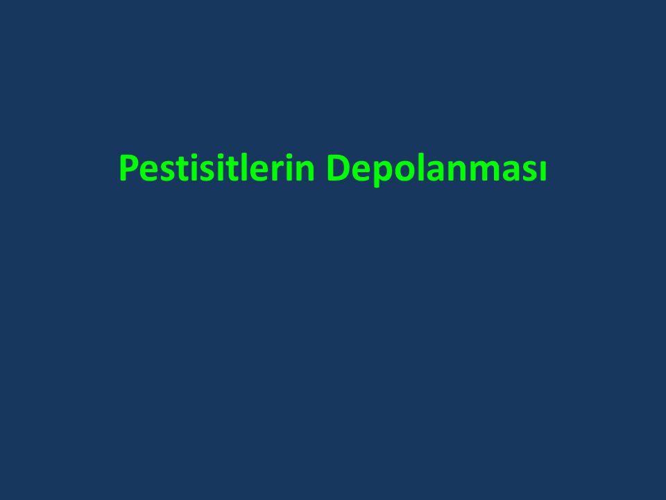 Pestisitlerin Depolanması