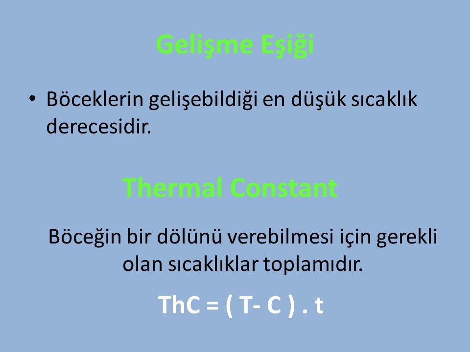 Gelişme Eşiği Thermal Constant