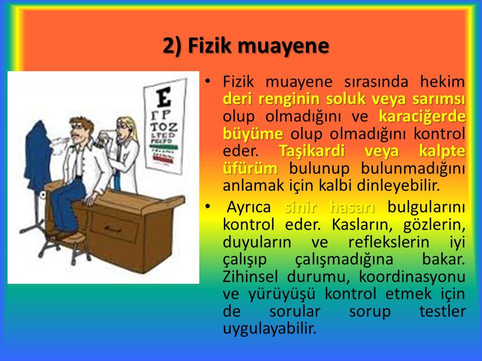2) Fizik muayene