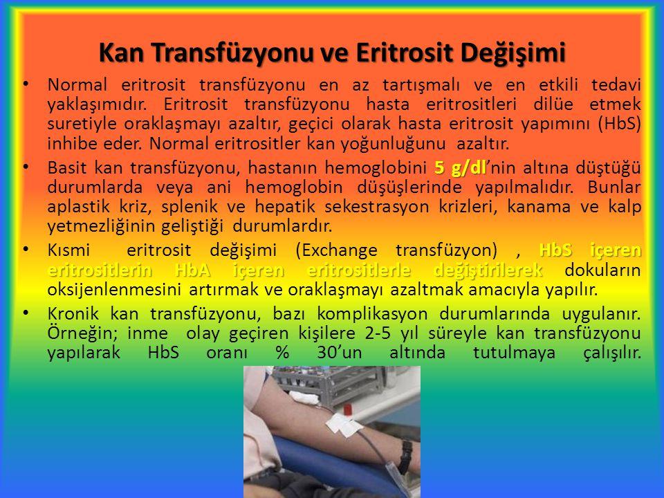 Kan Transfüzyonu ve Eritrosit Değişimi