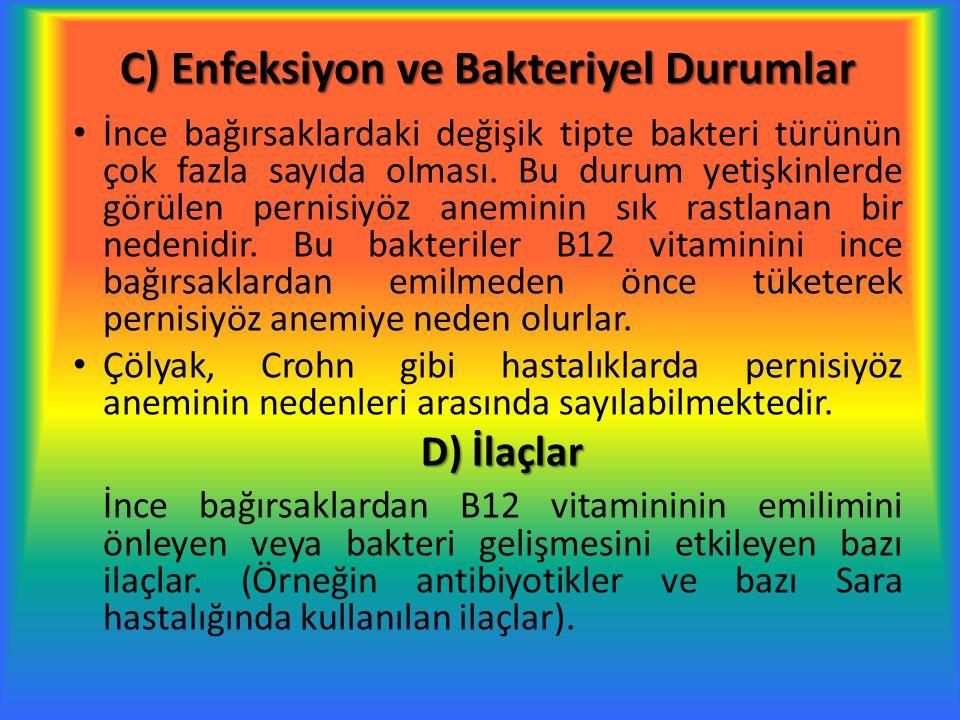 C) Enfeksiyon ve Bakteriyel Durumlar