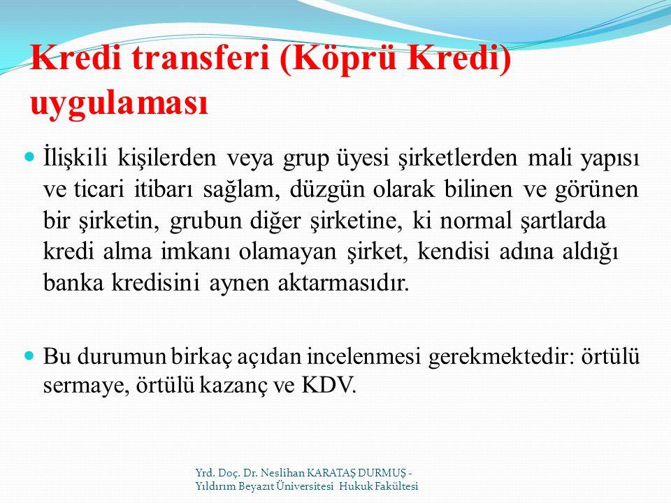 Kredi transferi (Köprü Kredi) uygulaması