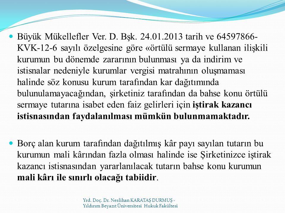 Büyük Mükellefler Ver. D. Bşk. 24. 01