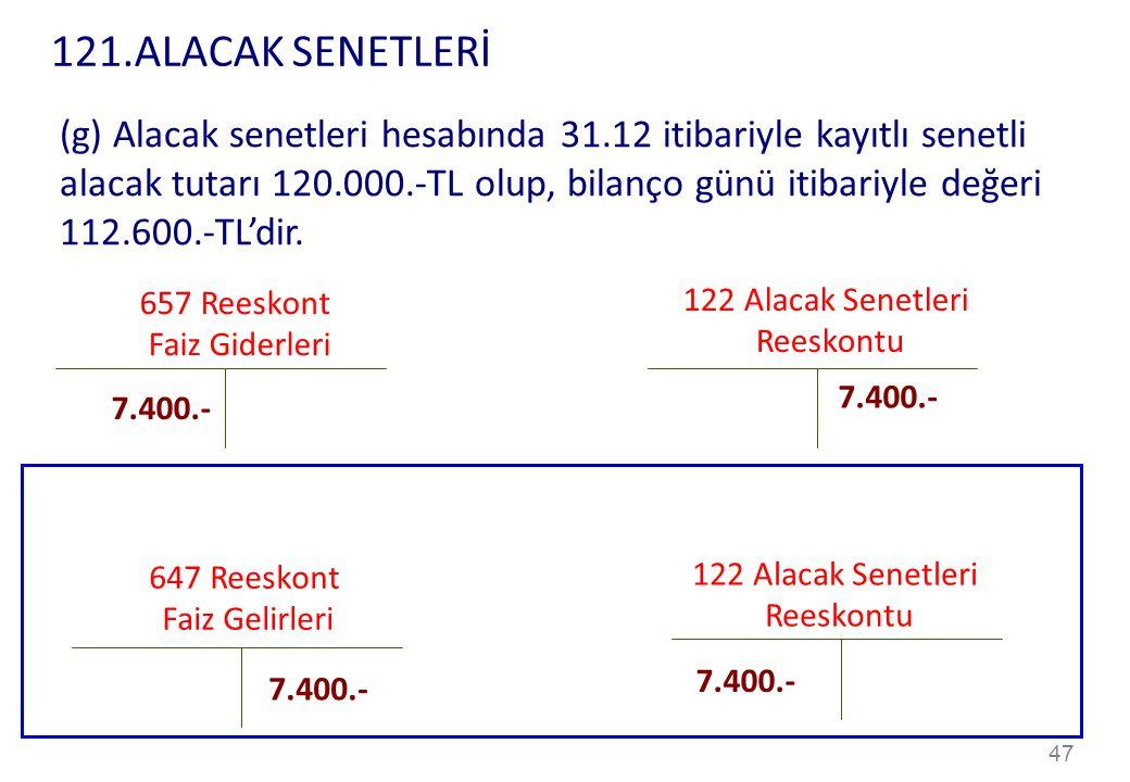 121.ALACAK SENETLERİ