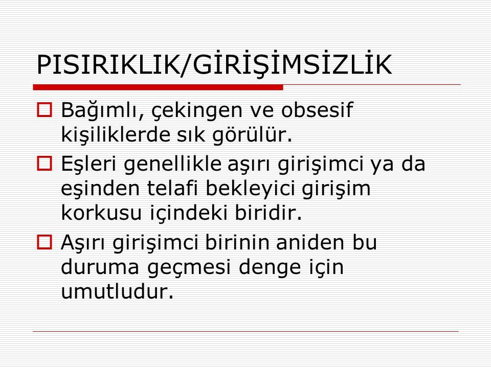 PISIRIKLIK/GİRİŞİMSİZLİK