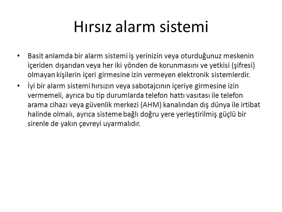 Hırsız alarm sistemi