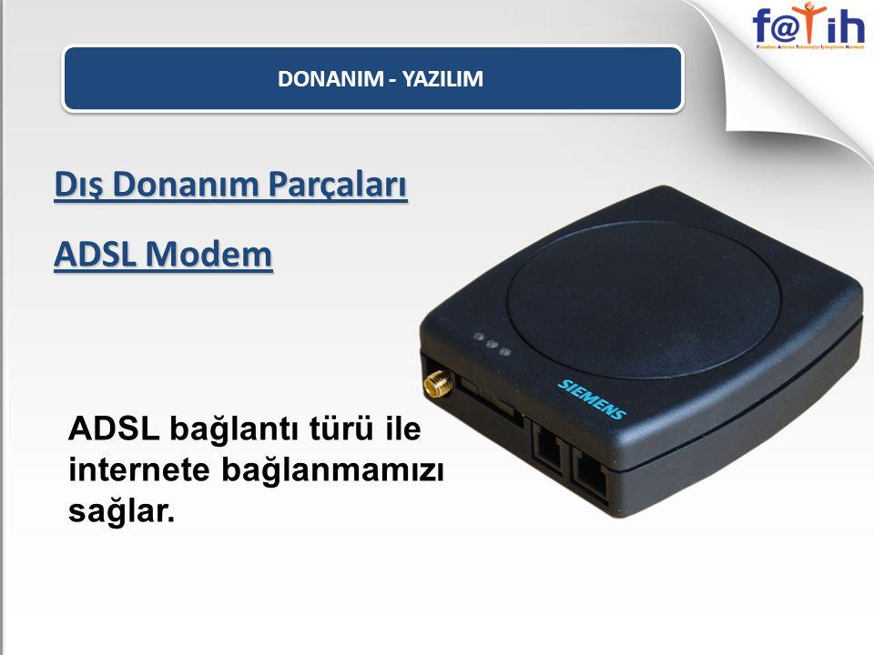 Dış Donanım Parçaları ADSL Modem