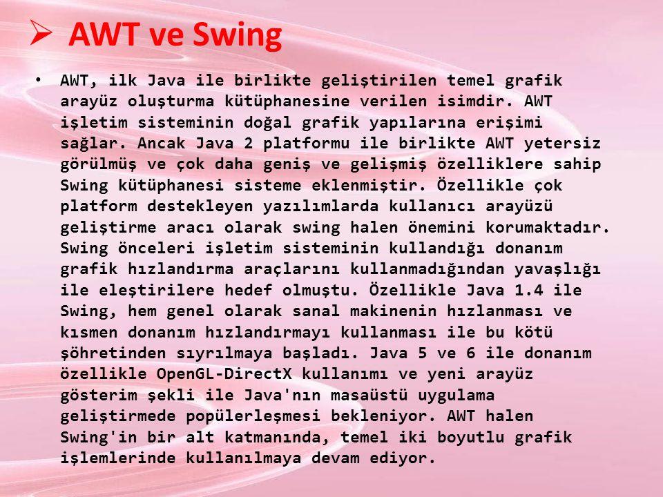 AWT ve Swing