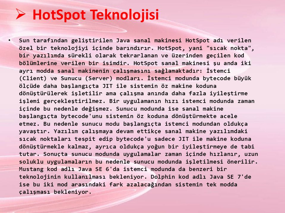 HotSpot Teknolojisi