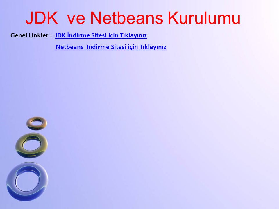 JDK ve Netbeans Kurulumu