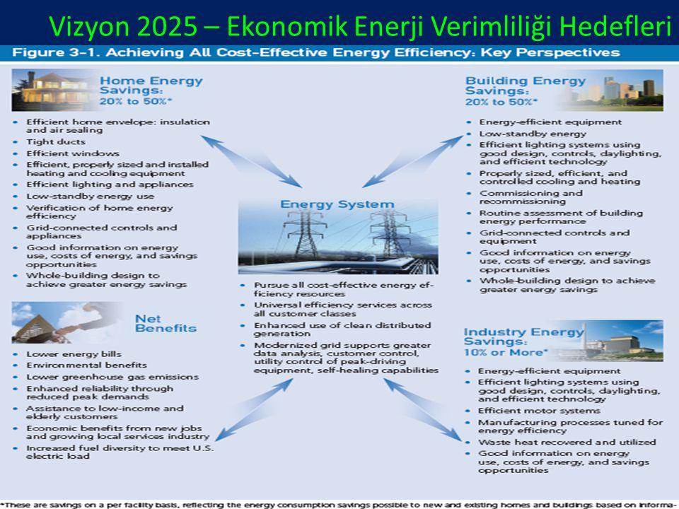 Vizyon 2025 – Ekonomik Enerji Verimliliği Hedefleri
