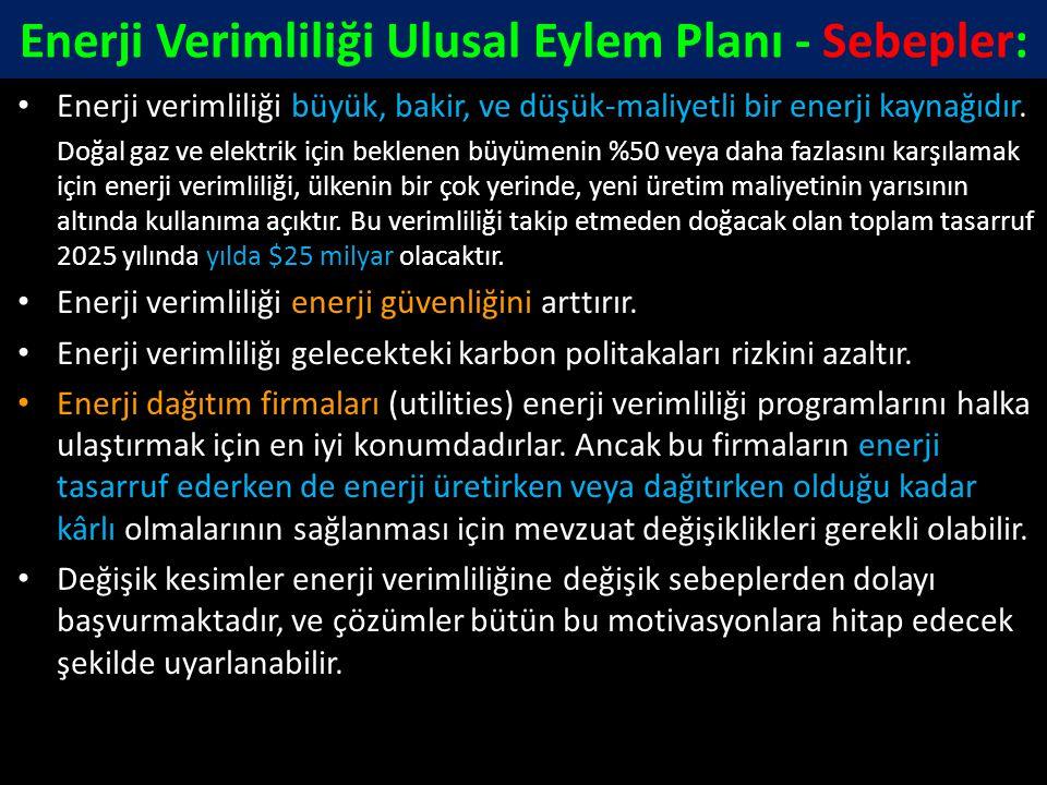 Enerji Verimliliği Ulusal Eylem Planı - Sebepler:
