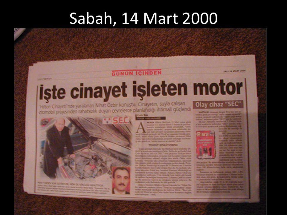 Sabah, 14 Mart 2000