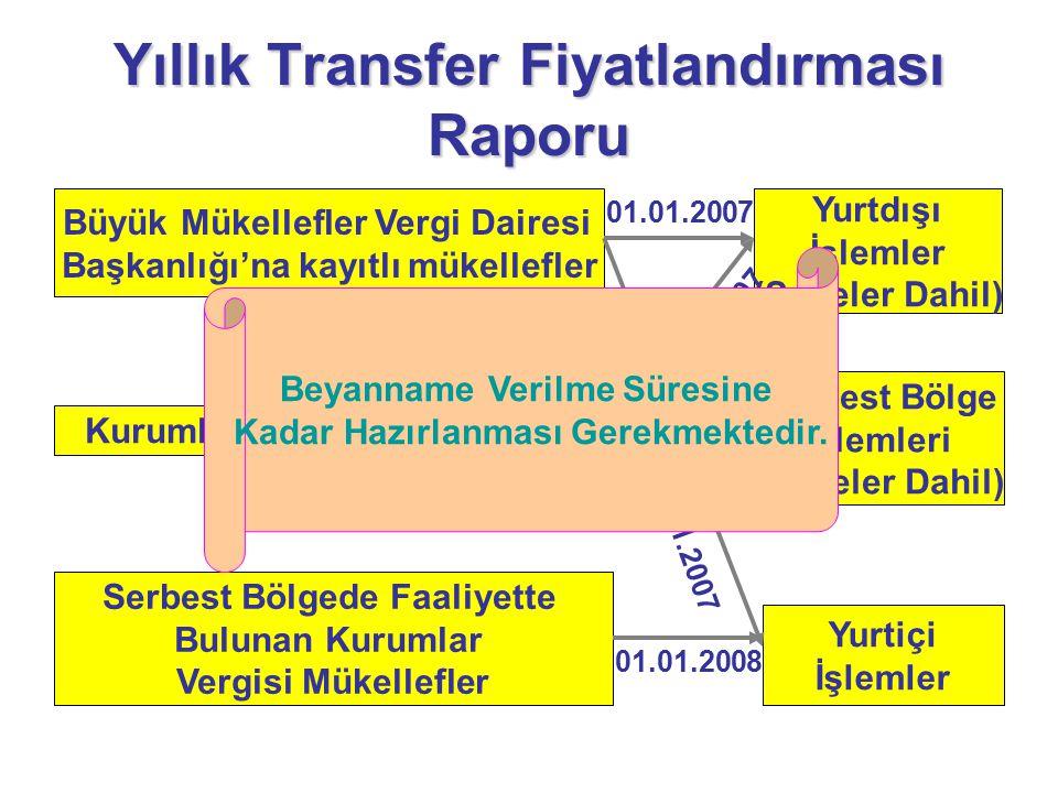 Yıllık Transfer Fiyatlandırması Raporu