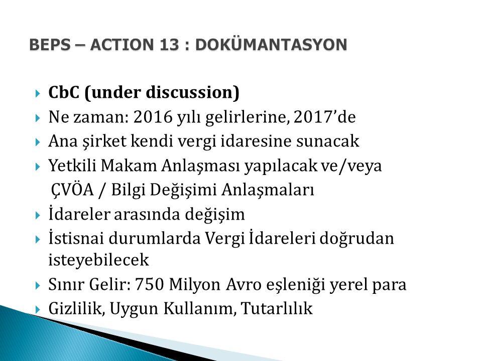 BEPS – ACTION 13 : DOKÜMANTASYON