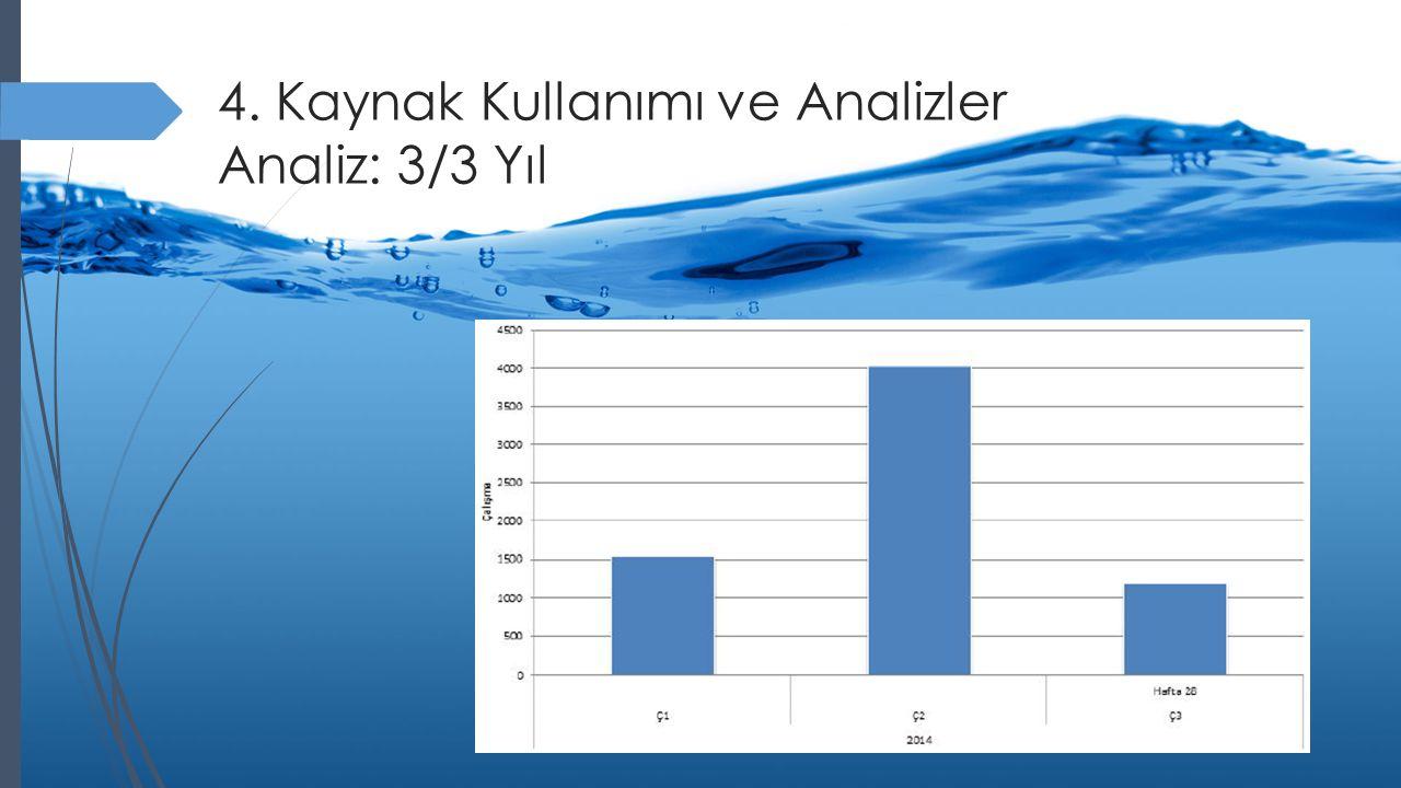 4. Kaynak Kullanımı ve Analizler Analiz: 3/3 Yıl