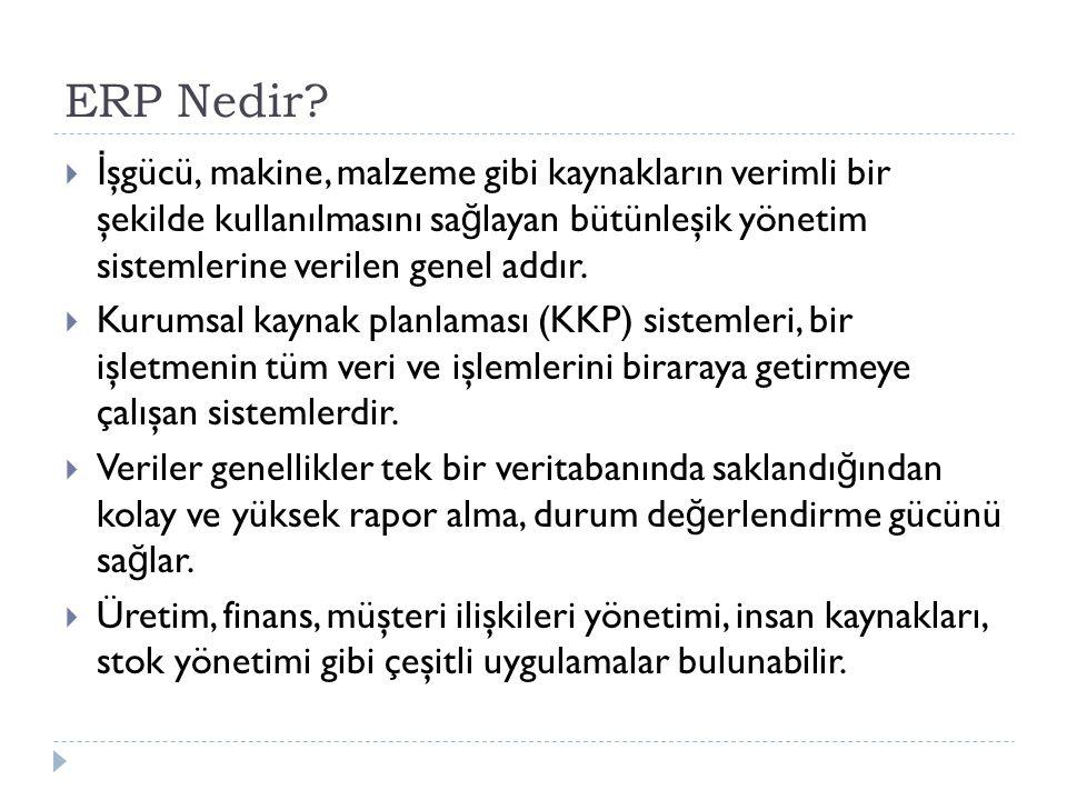 ERP Nedir