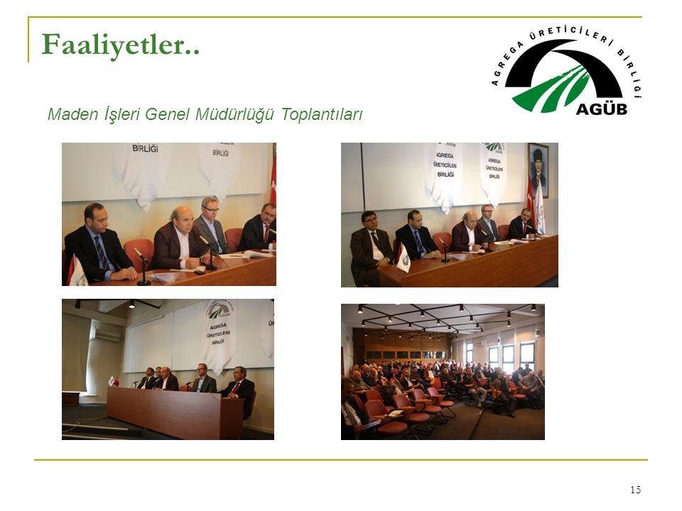 Faaliyetler.. Maden İşleri Genel Müdürlüğü Toplantıları