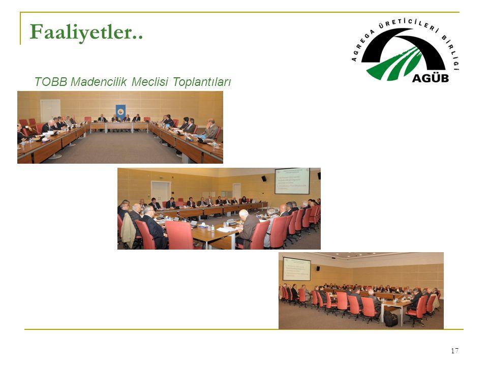 Faaliyetler.. TOBB Madencilik Meclisi Toplantıları