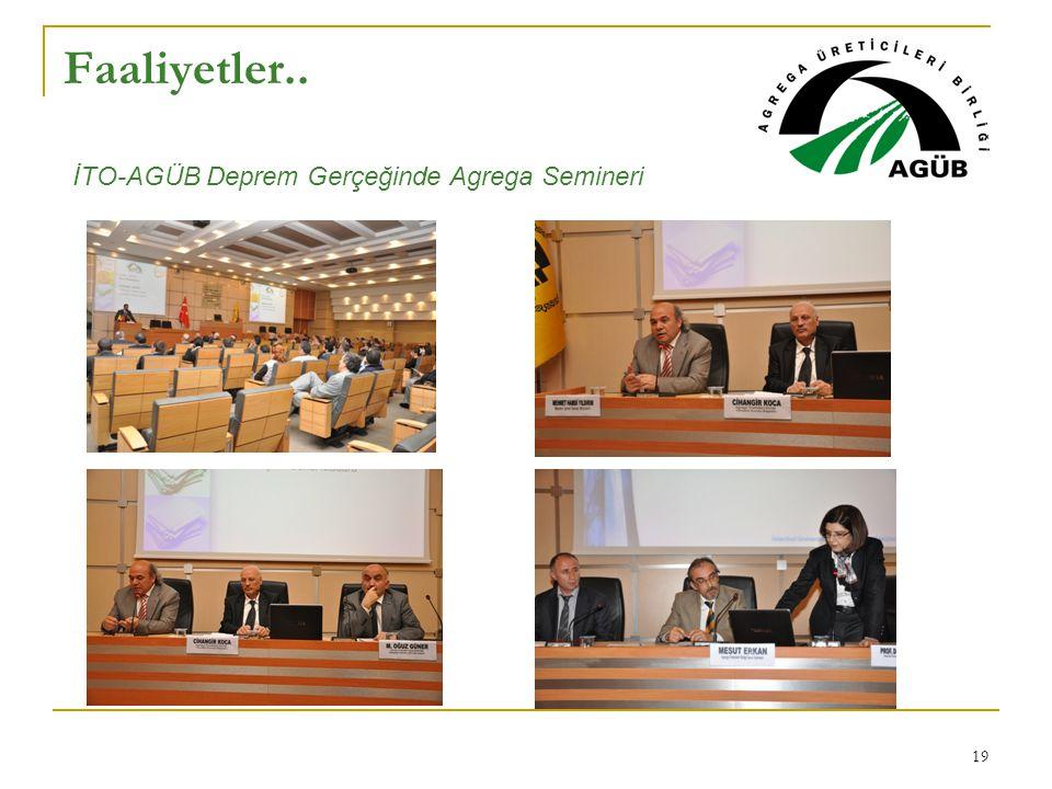 Faaliyetler.. İTO-AGÜB Deprem Gerçeğinde Agrega Semineri