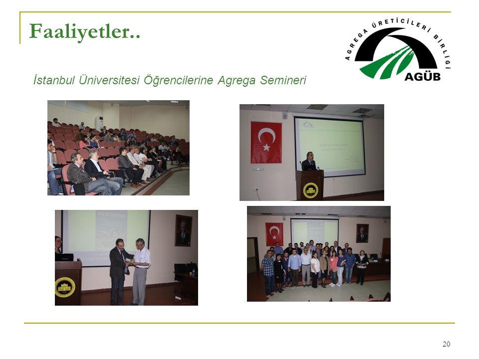 Faaliyetler.. İstanbul Üniversitesi Öğrencilerine Agrega Semineri