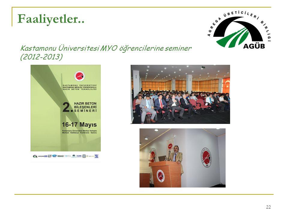 Faaliyetler.. Kastamonu Üniversitesi MYO öğrencilerine seminer (2012-2013)