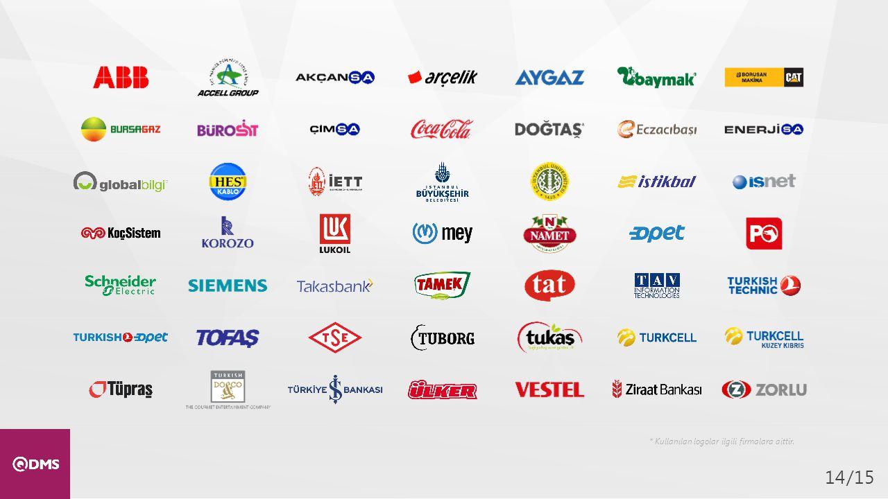 * Kullanılan logolar ilgili firmalara aittir.