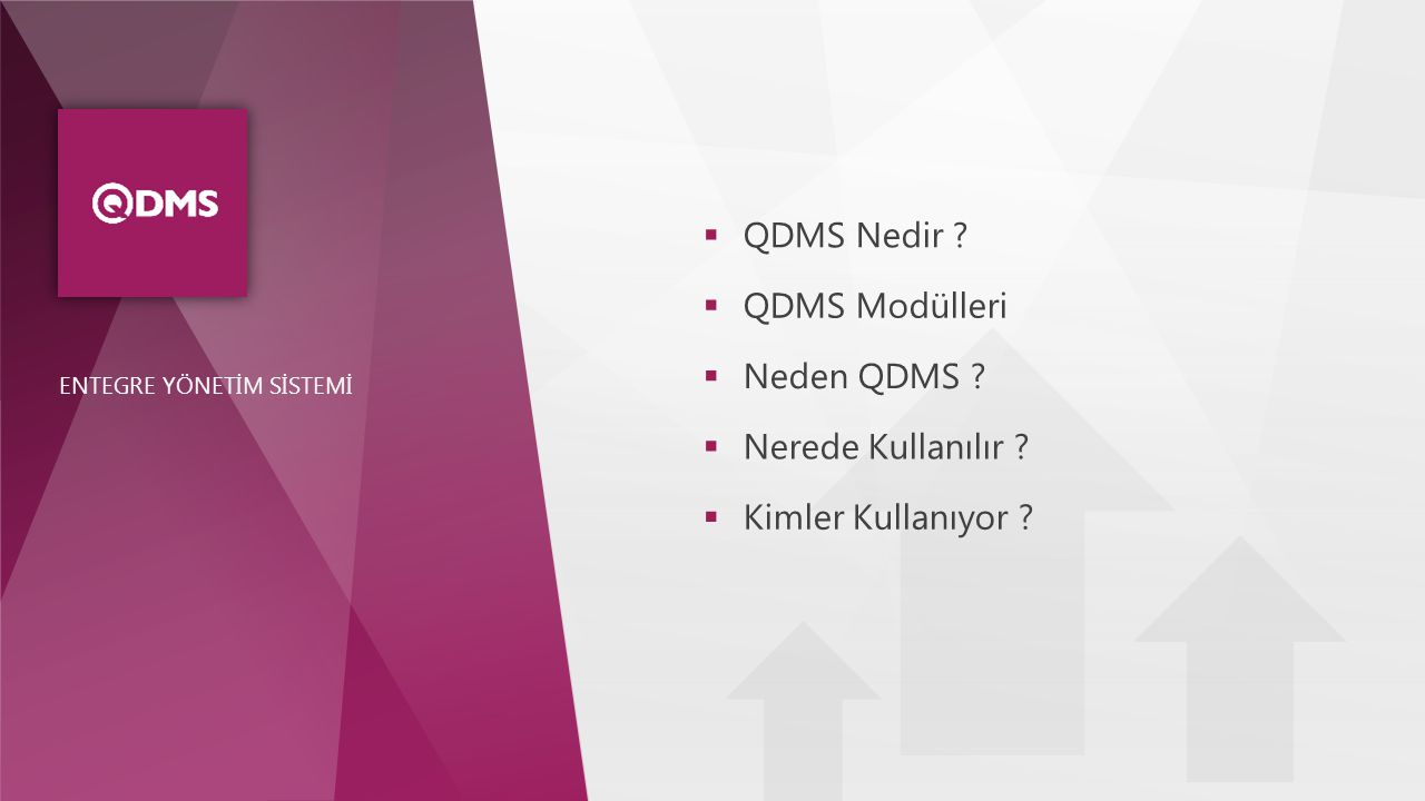 QDMS Nedir QDMS Modülleri Neden QDMS Nerede Kullanılır