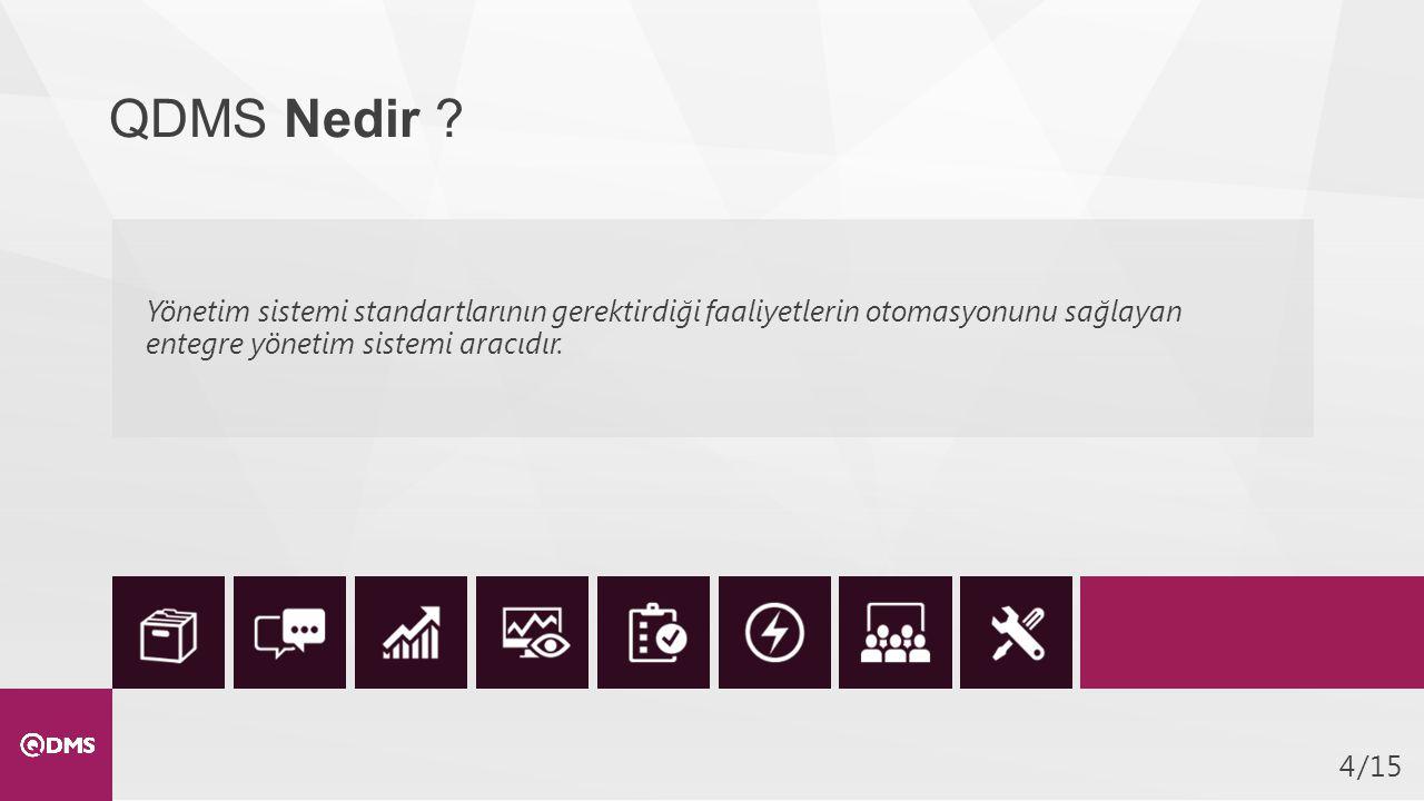 QDMS Nedir Yönetim sistemi standartlarının gerektirdiği faaliyetlerin otomasyonunu sağlayan entegre yönetim sistemi aracıdır.