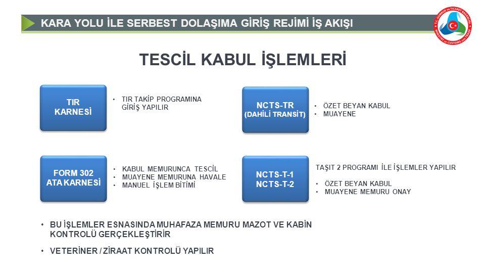 TESCİL KABUL İŞLEMLERİ
