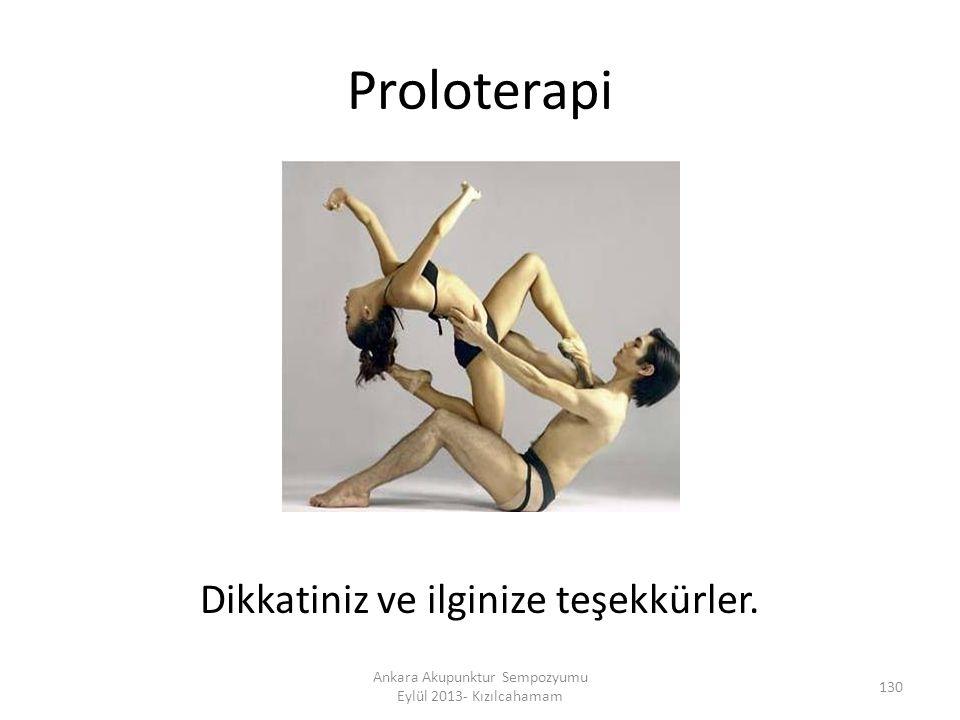 Proloterapi Dikkatiniz ve ilginize teşekkürler.