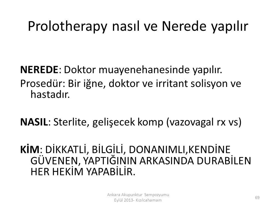 Prolotherapy nasıl ve Nerede yapılır