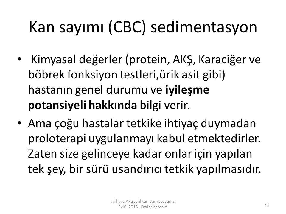 Kan sayımı (CBC) sedimentasyon