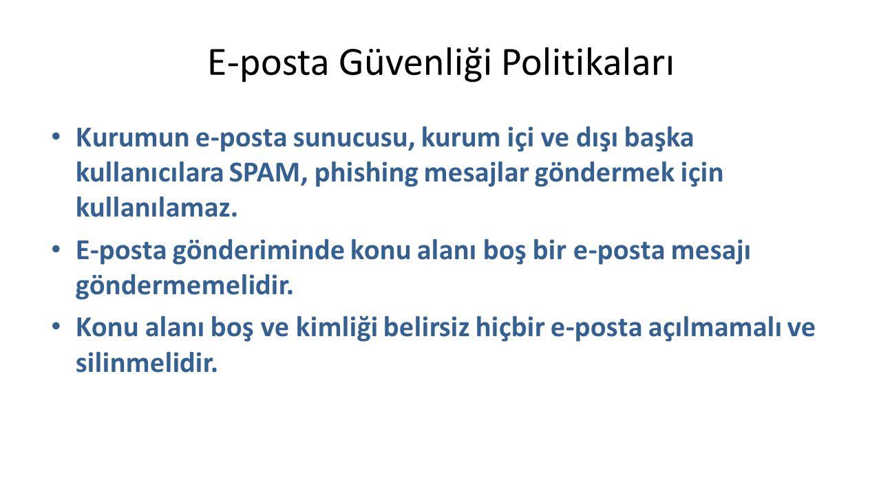 E-posta Güvenliği Politikaları