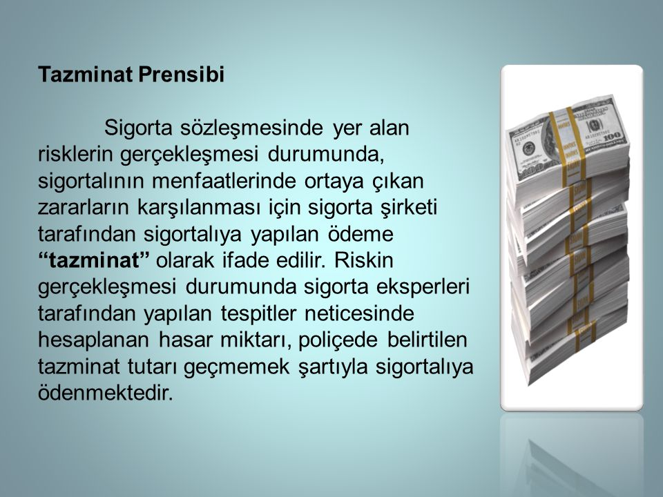 Tazminat Prensibi