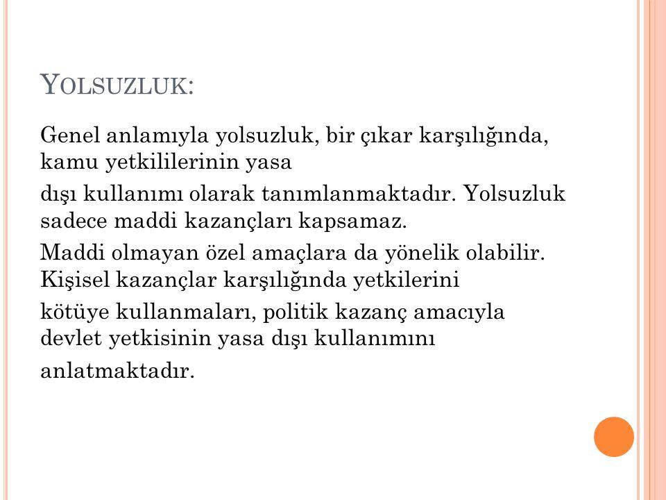 Yolsuzluk: