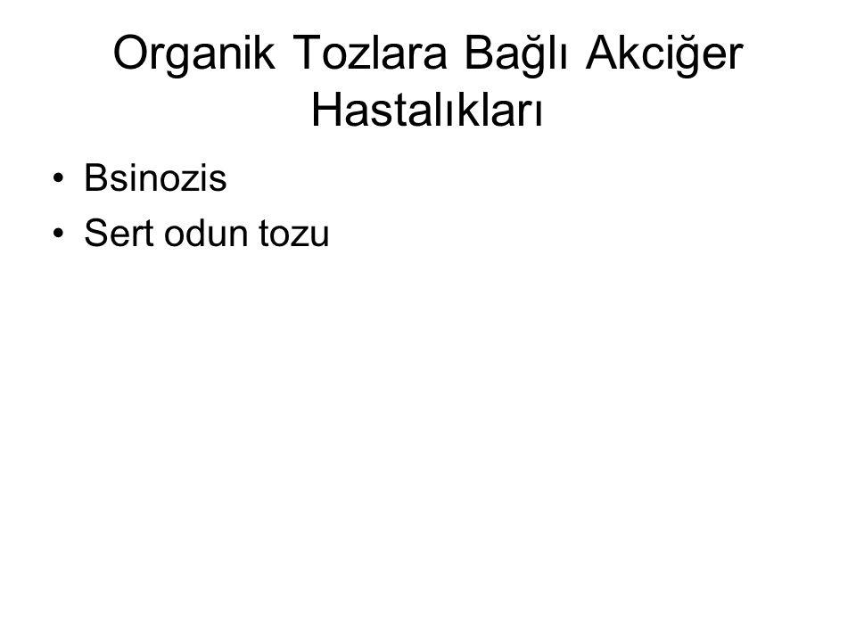 Organik Tozlara Bağlı Akciğer Hastalıkları