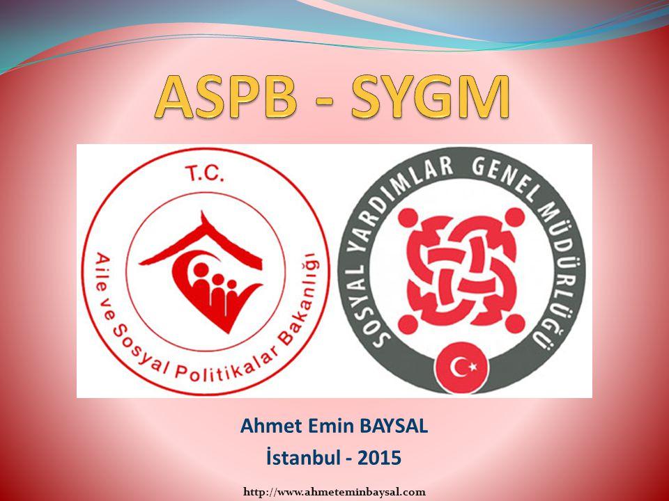 ASPB - SYGM Ahmet Emin BAYSAL İstanbul - 2015