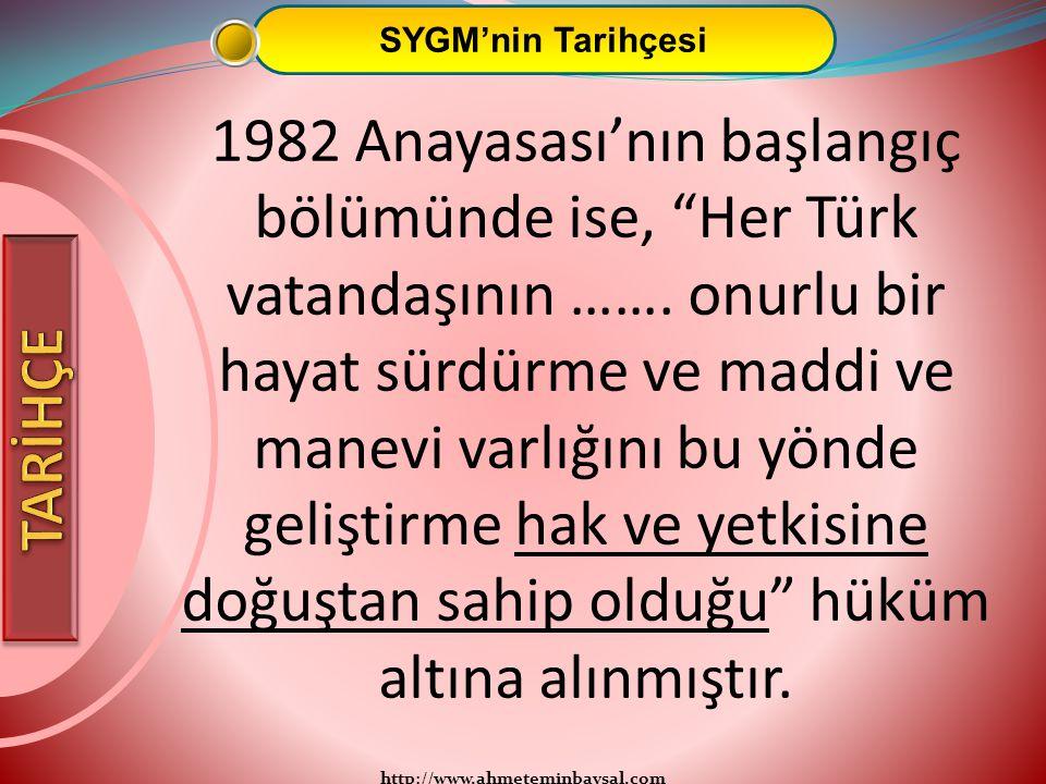 SYGM'nin Tarihçesi