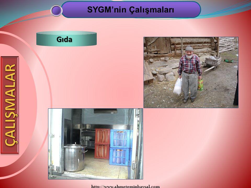 SYGM'nin Çalışmaları Gıda ÇALIŞMALAR http://www.ahmeteminbaysal.com