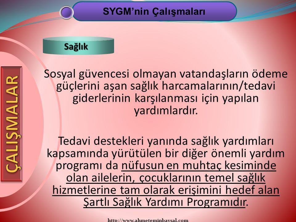 SYGM'nin Çalışmaları Sağlık.