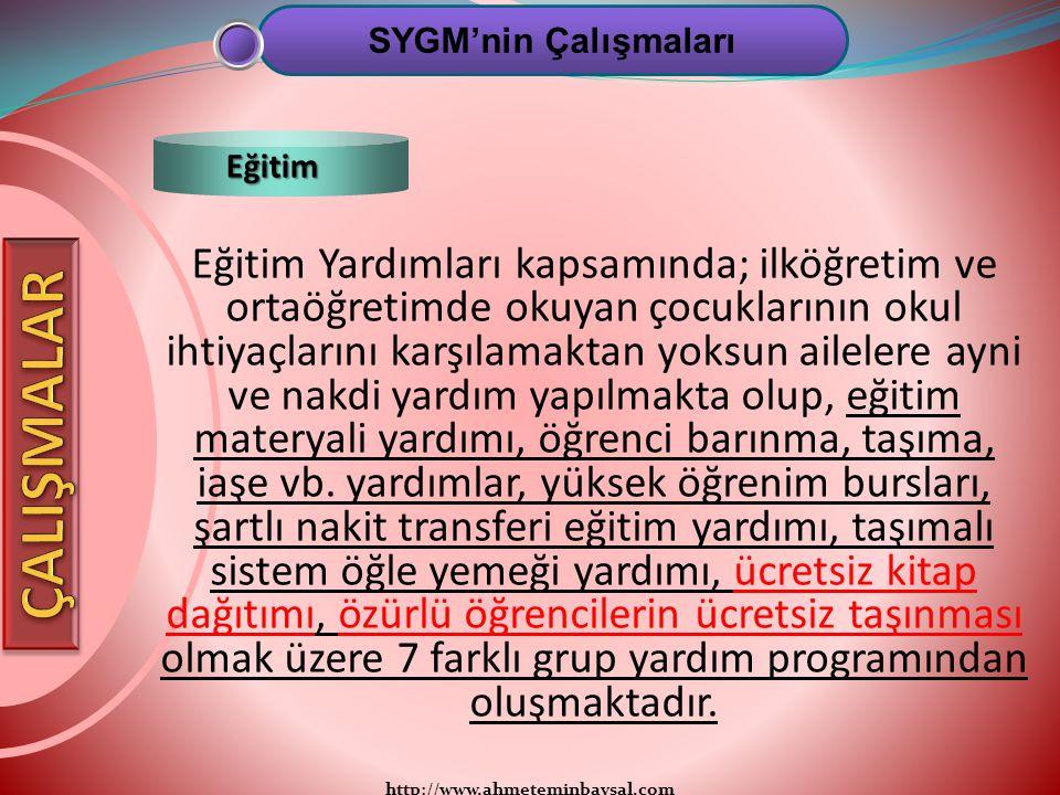SYGM'nin Çalışmaları Eğitim.