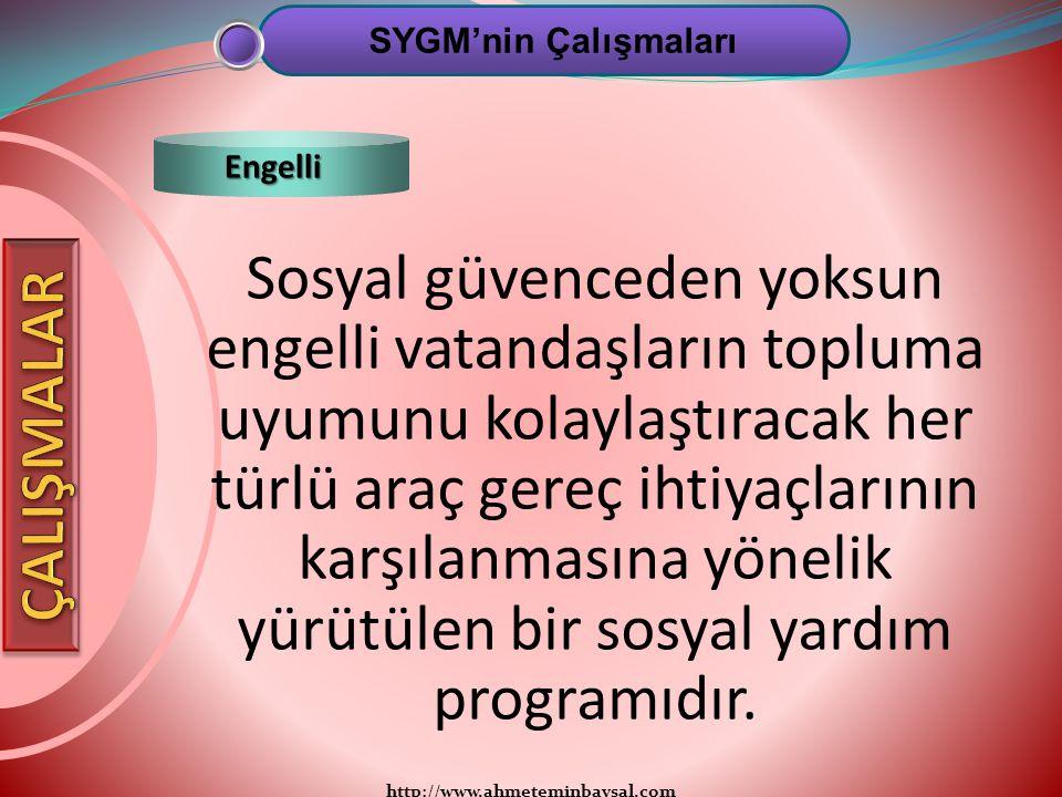 SYGM'nin Çalışmaları Engelli.