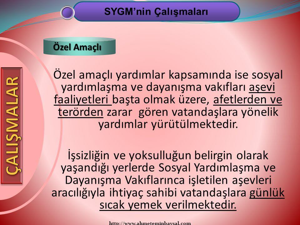 SYGM'nin Çalışmaları Özel Amaçlı.