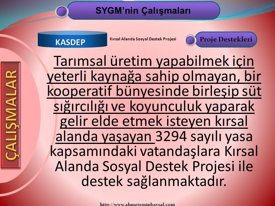 SYGM'nin Çalışmaları KASDEP. Proje Destekleri. Kırsal Alanda Sosyal Destek Projesi.