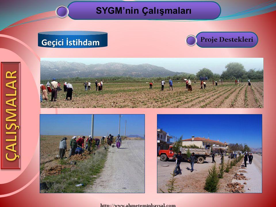 ÇALIŞMALAR SYGM'nin Çalışmaları Geçici İstihdam Proje Destekleri