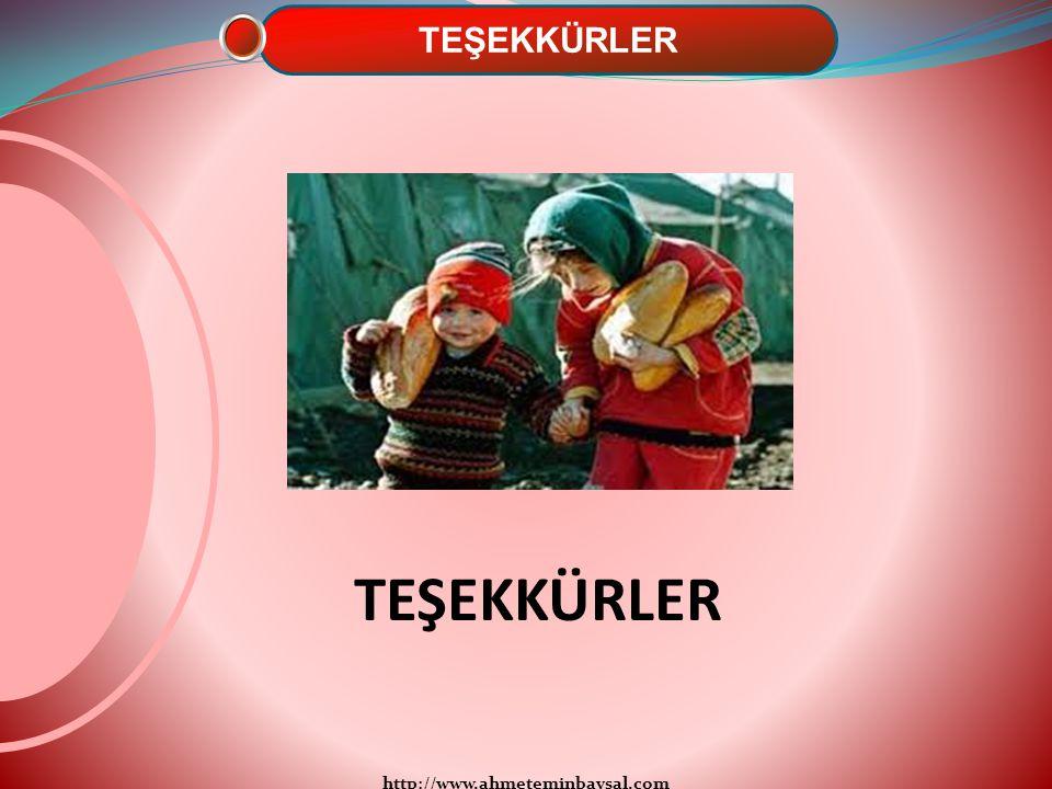 TEŞEKKÜRLER TEŞEKKÜRLER http://www.ahmeteminbaysal.com