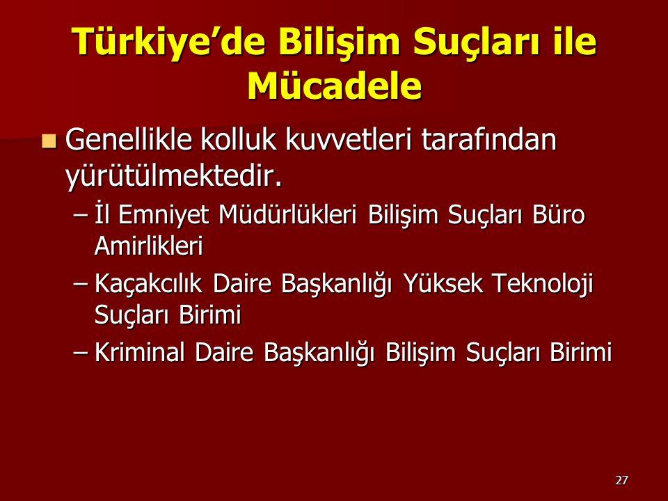 Türkiye'de Bilişim Suçları ile Mücadele