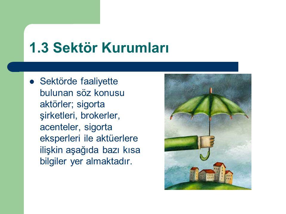 1.3 Sektör Kurumları